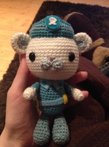 Crocheted Octonaut - Captain Barnacles
