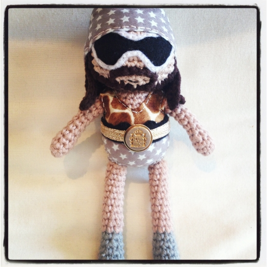 Crocheted Macho Man Randy Savage